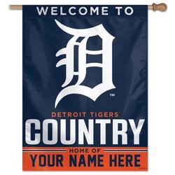"""""""WinCraft Detroit Tigers Personalized 27'' x 37'' 1-Sided Vertical Banner"""""""