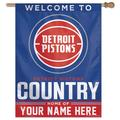 """""""WinCraft Detroit Pistons Personalized 27'' x 37'' 1-Sided Vertical Banner"""""""