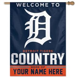 Detroit Tigers WinCraft Personalized 27'' x 37'' 1-Sided Vertical Banner