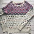 American Eagle Outfitters Sweaters | American Eagle Outfitters Crewneck Womans Sweater | Color: Pink/White | Size: Mj