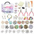 Roblue Jewelry Making Supplies, Jewelry Making Kit Tools 1526PCS Include Jewelry Beads and Charms Findings Beading & Jewelry Making Wire for Necklace Bracelets Earrings Making Kit for Adults Women