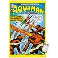 "Trends International DC Comics - Aquaman - The Invasion of The Fire-Trolls Wall Poster, 22.375"" x 34"", Premium Poster & Mount Bundle"