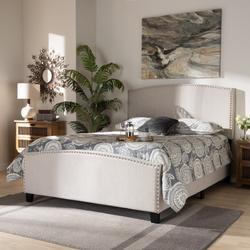 Baxton Studio Morgan Modern Transitional Beige Fabric Upholstered King Size Panel Bed - Wholesale Interiors Morgan-Beige-King