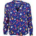 Chemise Tommy Jeans Chemise fluide bleu à motifs fleurs pour femme femme EU L