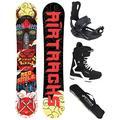 AIRTRACKS 156 159 162 cm Ensemble de Snowboard et Snowboard Rouge, Boots Savage Black 44