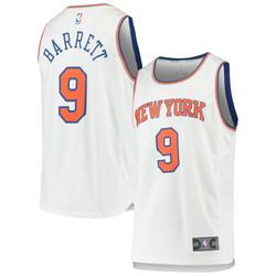 """Men's Fanatics Branded R.J. Barrett White New York Knicks 2019 NBA Draft First Round Pick Fast Break Replica Jersey - Association Edition"""