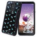 TalkingCase Black Hybrid Dual-Layer Phone Case for LG Stylo 4,Stylo 4 Plus,Cute Dinosaurs TP Print,Double-Layer,Armor Exterior,Soft Gel Interior Cover,Designed in USA