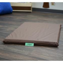 """Children's Factory Cozy Woodland 2"""" Thick Nap Mat in Brown, Size 2.0 H x 48.0 W x 24.0 D in 