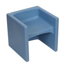"Children's Factory kids Cube Chair 3-in-1 Desk, Plastic in Sky Blue, Size 15"" L x 15"" W x 15"" H | Wayfair CF910-013"