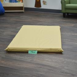 """Children's Factory Cozy Woodland 2"""" Thick Nap Mat in Yellow, Size 2.0 H x 48.0 W x 24.0 D in   Wayfair CF350-043"""