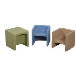 "Children's Factory kids Cozy Woodland Chair, Plastic in Brown, Size 15"" L x 15"" W x 15"" H | Wayfair CF910-072"