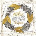 Posterazzi PDXCIN1236SMALL All Hearts Come Home for Christmas Birch Wreath Photo Print, 12 x 12, Multi