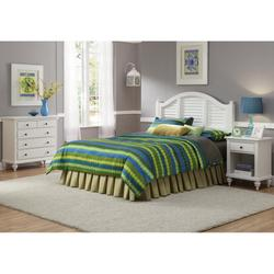 Bermuda Headboard, Night Stand, and Chest Brushed White Finish - Homestyles Furniture 5543-5016