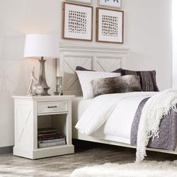 Seaside Lodge Twin Headboard and Night Stand - Homestyles Furniture 5523-4015