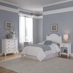 Bermuda White Twin Headboard, Night Stand, and Chest - Homestyles Furniture 5543-4016