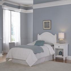 Bermuda White Twin Headboard and Night Stand - Homestyles Furniture 5543-4015