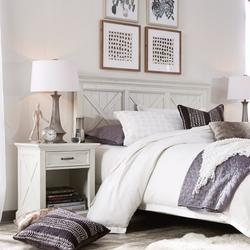 Seaside Lodge Queen/Full Headboard & Night Stand - Homestyles Furniture 5523-5015