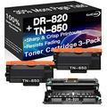 Go4Color Compatible Toner Cartridges & Drum Unit Replacement for Brother DR820 DR-820 TN850 TN-850 Toners use with Brother HL-L5100DN HL-L6200DW MFC-L5700DW Printer (1x Drum + 2X Toner, 3-Pack)