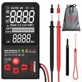 """Bside Upgraded Multimeter Digital Voltage Tester 3.5"""" EBTN LCD 3-Line Display 9999 Counts True RMS Auto Ranging Volt Ohm Hz Continuity Capacitance Diode Tester with Analog Bar & 5 LED Indicators"""