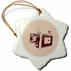 The Holiday Aisle® Picture of a Super 8 Video Camera Holiday Shaped Ornament Ceramic/Porcelain, Size 3.0 H x 3.0 W x 0.0625 D in | Wayfair