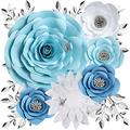 Paper Flowers Decorations for Wall, Large 3D Artificial Fake Flower Wall Decor Baby Girl Boy Nursery Room, Bridal Shower, Wedding Centerpiece, Party Backdrop