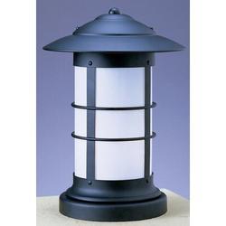 Arroyo Craftsman Newport Outdoor 1-Light Pier Mount Light in Brown, Size 19.25 H x 13.75 W in   Wayfair NC-14LF-AC