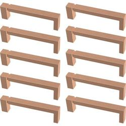 """Franklin Brass Asymmetrice Notched Kitchen Cabinet or Furniture Drawer 3 3/4"""" Center Bar Pull Multipack Metal in Brown, Size 4.17 H x 0.47 W in"""