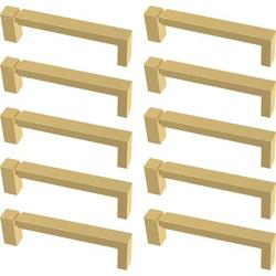 """Franklin Brass Asymmetrice Notched Kitchen Cabinet or Furniture Drawer 3 3/4"""" Center Bar Pull Multipack Metal, Size 4.17 H x 0.47 W in 