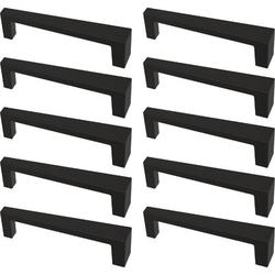"""Franklin Brass Angled Kitchen Cabinet or Furniture Drawer 3 3/4"""" Center Bar Pull Multipack Metal in Black, Size 4.13 H x 0.7 W in   Wayfair"""