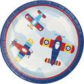 Creative Converting Toy Airplane Paper Disposable Dinner PlatePaper in White   Wayfair 331504