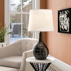 "George Oliver Vanbuskirk Ceramic 13.5"" Table LampCeramic/Linen in Black, Size 25.25 H x 13.5 W in | Wayfair 4079F87EB1FC4DB5A9B2E499C2B2CDF4"
