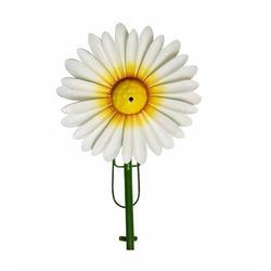 Gardenique Metal Daisy Planter FountainMetal in White/Yellow, Size 11.0 H x 7.5 W x 2.75 D in | Wayfair 33363