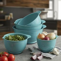 KitchenAid 5 Piece Plastic Mixing Bowl SetPlastic in Green/Blue | Wayfair KE178OSAQA