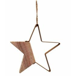 The Holiday Aisle® Wood & Iron Silhouette Star Holiday Shaped OrnamentWood in Brown, Size 9.0 H x 9.0 W x 0.75 D in   Wayfair