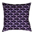 Latitude Run® Avicia Square Throw Pillow Cover & InsertPolyester/Polyfill/Polyester/Polyester blend in White/Indigo, Size 36.0 W x 14.0 D in Wayfair