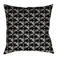 Latitude Run® Avicia Square Throw Pillow Cover & InsertPolyester/Polyfill/Polyester/Polyester blend in White/Black, Size 36.0 W in   Wayfair