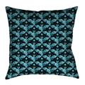 Latitude Run® Avicia Square Throw Pillow Cover & InsertMetal in Green/Blue, Size 40.0 W in | Wayfair 26B1E24B11C549E78555D7EC128ACCB4