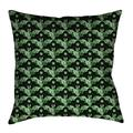 Latitude Run® Avicia Square Throw Pillow Cover & InsertPolyester/Polyfill/Polyester/Polyester blend in Green/White, Size 36.0 W in   Wayfair
