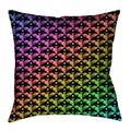 Latitude Run® Avicia Square Throw Pillow Cover & InsertMetal in Orange/Red/Blue, Size 40.0 W in | Wayfair 85188647C073459F8101793AE2E08762