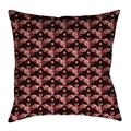 Latitude Run® Avicia Square Throw Pillow Cover & InsertMetal in Red, Size 40.0 W in | Wayfair 93224EB34D5C44279A7875592C014085
