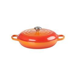 Le Creuset Enameled Cast Iron Round Braiser w/ Lid Cast Iron/Enameled in Orange, Size 5.25 H x 15.75 W in | Wayfair LS2532-302SS
