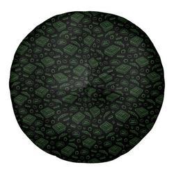 Latitude Run® Avicia Pizza Floor PillowPolyester/Polyfill/Polyester/Polyester blend in Green, Size 26.0 H x 26.0 W x 7.0 D in | Wayfair