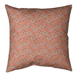 Ebern Designs Kitterman Pizza Square Linen Pillow in Orange, Size 26.0 H x 26.0 W x 2.0 D in | Wayfair 08D5CA7686984942A590716E902006C5