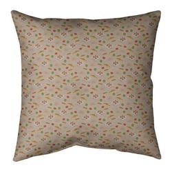 Ebern Designs Kitterman Pizza Square Linen PillowPolyester/Polyfill in Gray, Size 26.0 H x 26.0 W x 9.5 D in | Wayfair