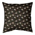"Ebern Designs Kitterman Pizza Square Linen Pillow, Fill Material: Polyester/Polyfill, Polyester/Polyfill in Black, Size 26"" H x 26"" W 