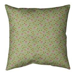 Ebern Designs Kitterman Pizza Square Linen PillowPolyester/Polyfill in Green, Size 26.0 H x 26.0 W x 9.5 D in   Wayfair