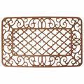Winston Porter Gosling Diamond & Scroll Door Mat Metal in Brown, Size 17.0 W x 26.0 D in | Wayfair LH45