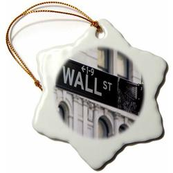 The Holiday Aisle® Wall Street Holiday Shaped Ornament Ceramic/Porcelain in Black, Size 3.0 H x 3.0 W x 0.0625 D in   Wayfair