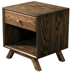 George Oliver Cloquet 1 Drawer Nightstand Wood in Brown, Size 23.0 H x 20.0 W x 18.0 D in | Wayfair MidCentury Nightstand - RO - Knob