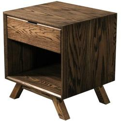 George Oliver Cloquet 1 Drawer Nightstand Wood in Brown, Size 23.0 H x 20.0 W x 18.0 D in | Wayfair MidCentury Nightstand - RO - Handle